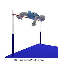 Athlete doing high jump
