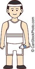 Athlete doodle cartoon