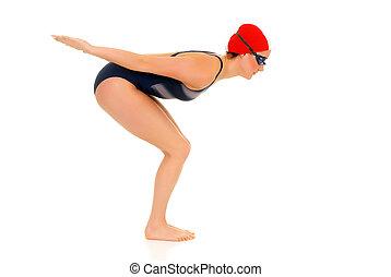 Athlete, female swimmer