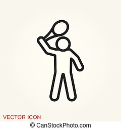 Athlete icon isolated on background vector illustration