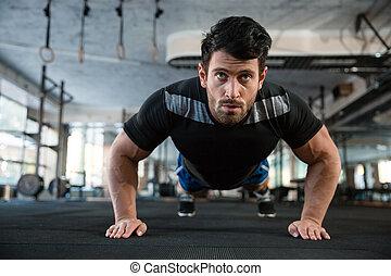 Athlete on the training