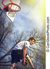 Athlete Playing Basketball