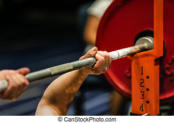 athlete powerlifter exercise bench press