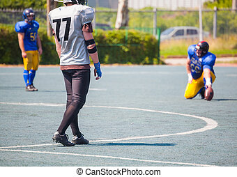 athlete ready to punch the ball