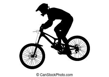 athlete rider on bike