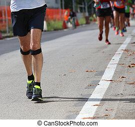 athlete runner during the race