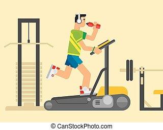 Athlete Running on a Treadmill