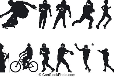 Athlete Silouettes - Illustration of Athlete Silouettes