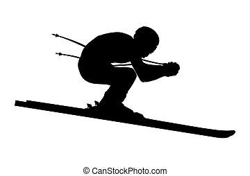 athlete skier downhill