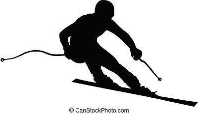 athlete skier super slalom