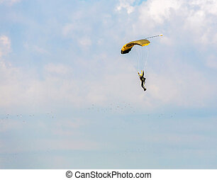 athlete skydiver flying