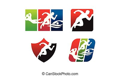 Athlete Sport Template Set