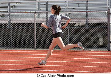 Athlete - Teen athlete during practice