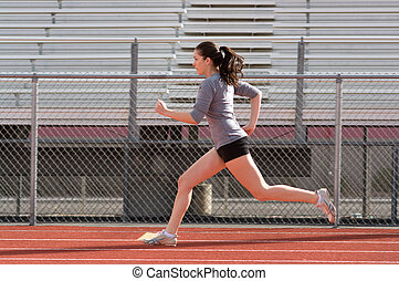 Teen athlete during practise