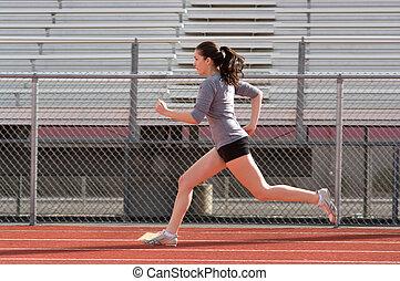 Athlete - Teen athlete during practise