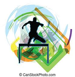 Athlete. Vector illustration