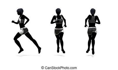athlete - silhouette of woman athlete