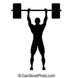 athlete weight lifting sport silhouette