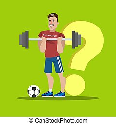 Athlete with question.