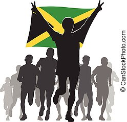 Athlete with the Jamaica