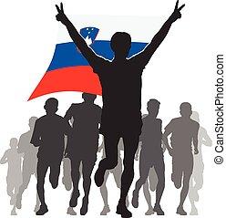 Athlete With The Slovenia