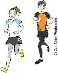 athleten, läufer
