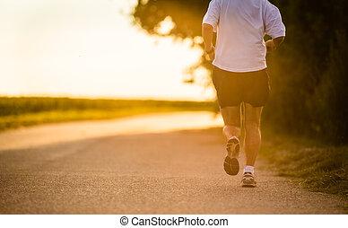 athlete/runner, マレ, 動くこと, 道