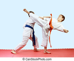 Athletes are training blows legs