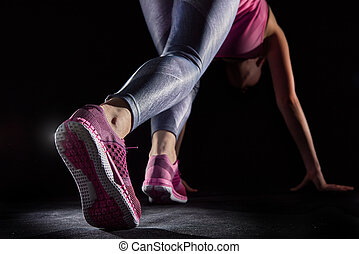 healthy lifestyle and sport concepts. - athletes foot...