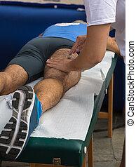 athlete's, muscles, массаж, после, спорт, разрабатывать
