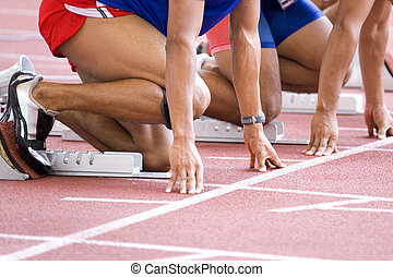 Athletes Warming-Up - Image of a 100 meters athlete...
