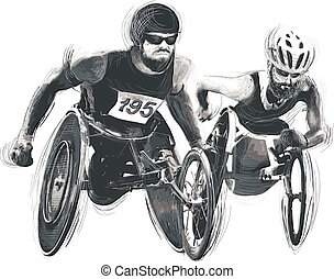 Athletes with physical disabilities - WHEELCHAIR RACING -...