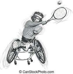 Athletes with physical disabilities - WHEELCHAIR TENNIS -...