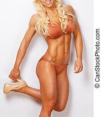 Athletic beautiful female