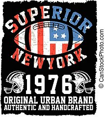 Athletic Dept. New york; Varsity Sport vector print and...