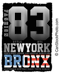 Athletic Dept. New york Varsity Sport vector print and...