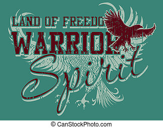 athletic eagle spirit vector art