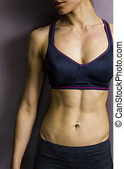 Athletic female abs