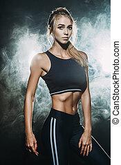 athletic female body