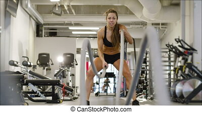 Athletic female high-intensity interval training using...