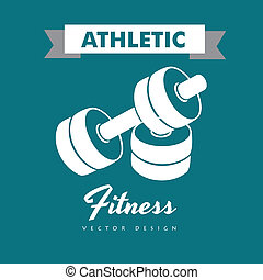 athletic fitness over blue background vector illustration
