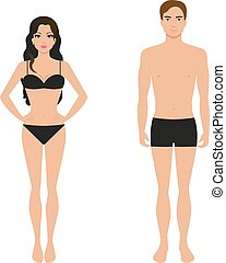Athletic girl and a guy in his underwear