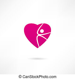 Athletic heart icon