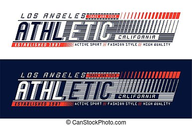 Athletic Los Angeles Typography design, for screen printing...
