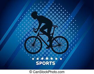 athletic man bike ride sport silhouette