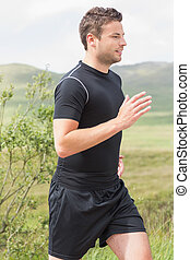 Athletic man on a jog