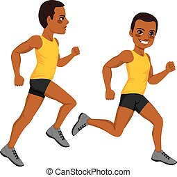Athletic Man Runner - African American athletic man runner...