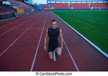 Athletic man start