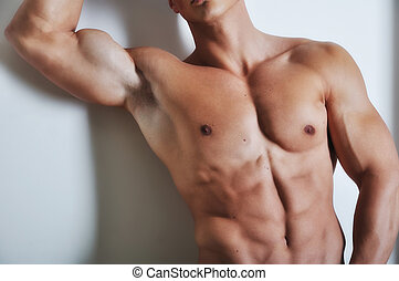 Athletic man with six-pack