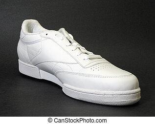 Athletic Shoe - close up of white athletic shoe